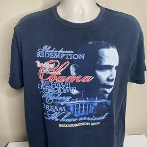 Vintage Obama inauguration T shirt size large